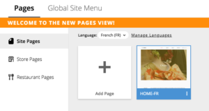 Select Cloned Page